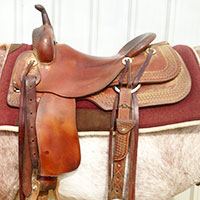 Cutting horse saddle