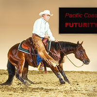 Larry Trocha at the PCCHA cutting horse futurity